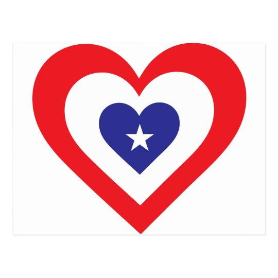 America Heart Postcard