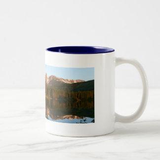 América hermosa: Lago Sprague Taza De Café De Dos Colores