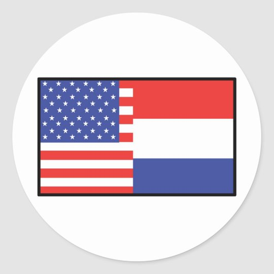 America Holland Classic Round Sticker