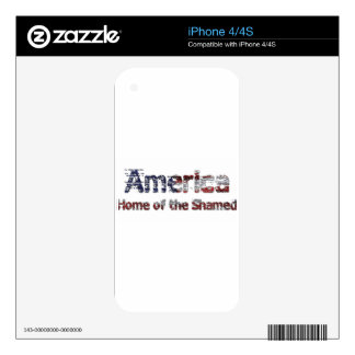 America Home of the Shamed iPhone 4S Decal