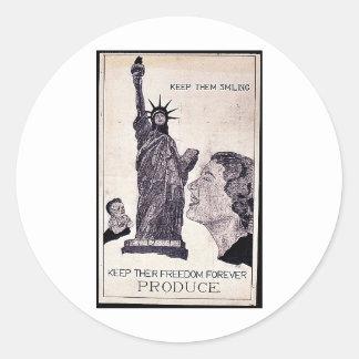 América hoy, Europa nazi Pegatinas Redondas