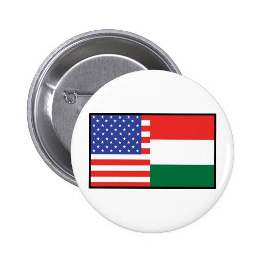 America Hungary Button