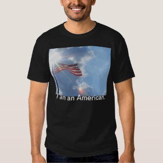 America I am an American Black Tshirt CricketDiane