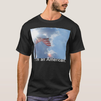 America I am an American Black Tshirt CricketDiane