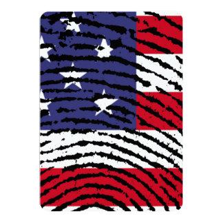 America 5x7 Paper Invitation Card
