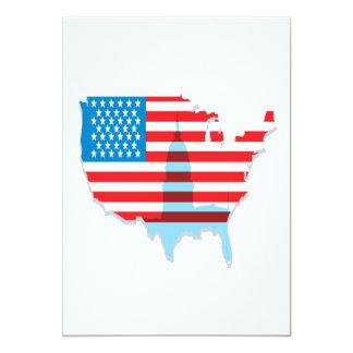 """America 5"""" X 7"""" Invitation Card"""