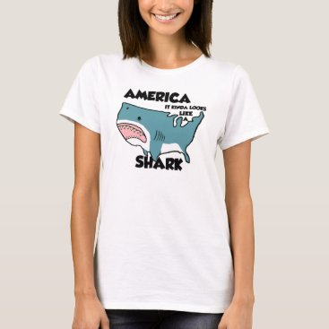 USA Themed America is a Shark (New styles now available) T-Shirt
