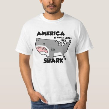 USA Themed America is a Shark (other styles now available) T-Shirt