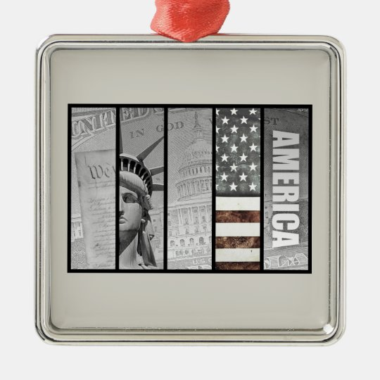 America Is Exceptional Metal Ornament