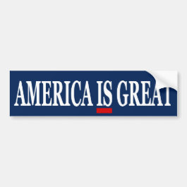 America IS Great Anti Trump Bumper Sticker