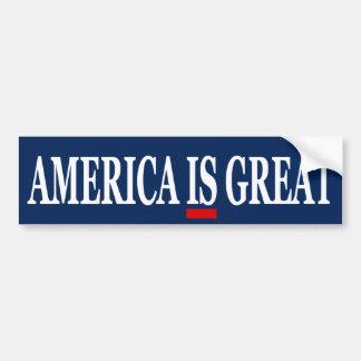 America IS Great Anti Trump Bumper Sticker