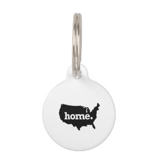 AMERICA IS HOME HOME STATE PET TAGS