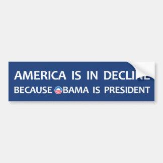 America is in decline car bumper sticker