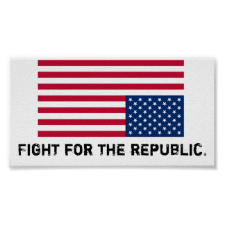 America is in distress, fight for the republic. print