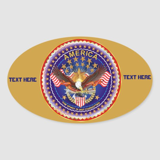 America Is Not Forgotten Oval Only See Notes Oval Sticker