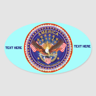 America Is Not Forgotten Oval Only See Notes Sticker