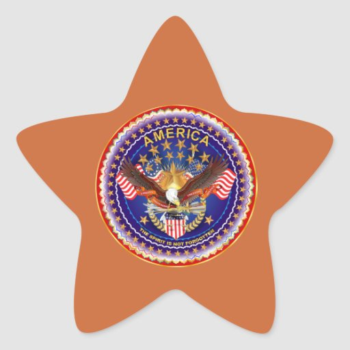 America Is Not Forgotten Star Only See Notes Star Sticker