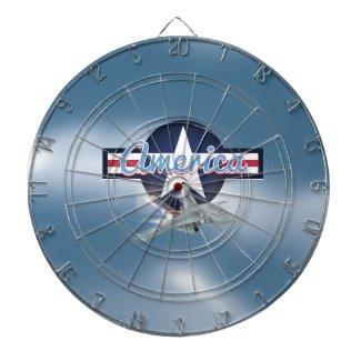 America Jet fighter Air Force Dartboard