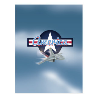 America Jet fighter Air Force Postcard