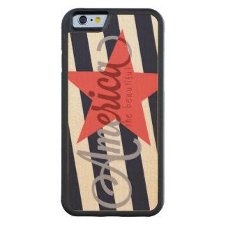 América la caja de madera hermosa del teléfono