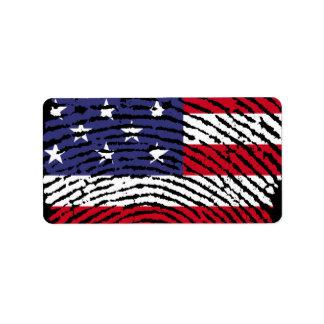 America Address Label