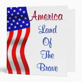 America Land Of The Brave Binder