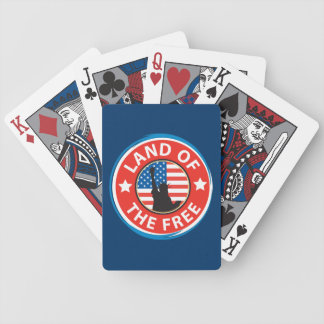 America Land of the Free Bicycle Playing Cards