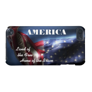 AMERICA-Land of the Free-Home of the Brave/+Flag iPod Touch 5G Cover