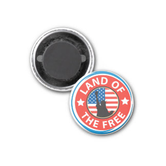 America Land of the Free Magnets