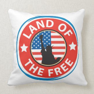 America Throw Pillows