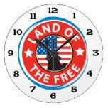 America Land of the Free Wallclock