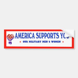 América le apoya DE PARACHOQUES Pegatina De Parachoque