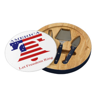 America Let Freedom Ring Cheese Board