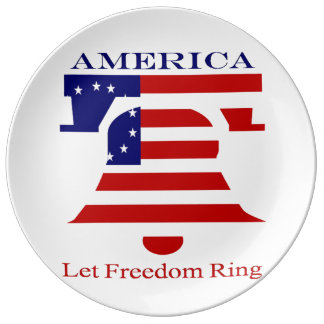 America Let Freedom Ring Plate