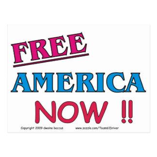 ¡América LIBRE AHORA!! Postal