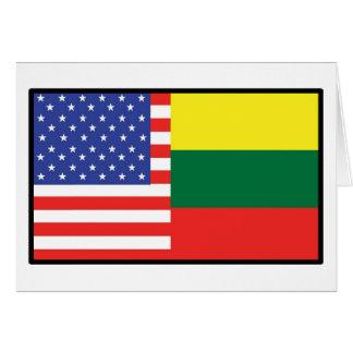 America Lithuania Card