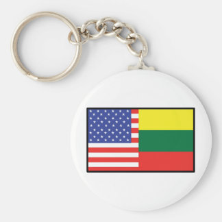 America Lithuania Keychain