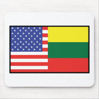 America Lithuania Mouse Mat
