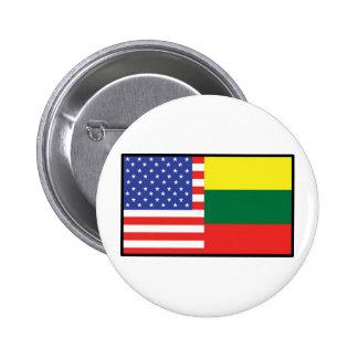 America Lithuania Pinback Button
