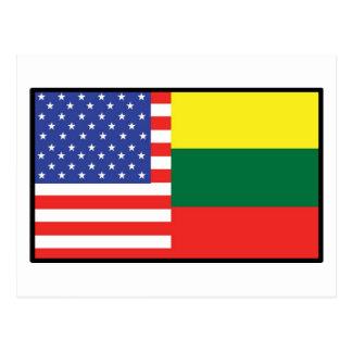America Lithuania Postcard
