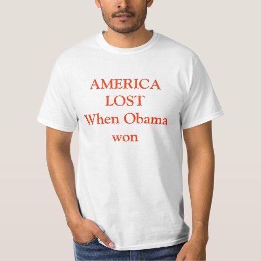 AMÉRICA LOSTWhen Obama ganado Playera