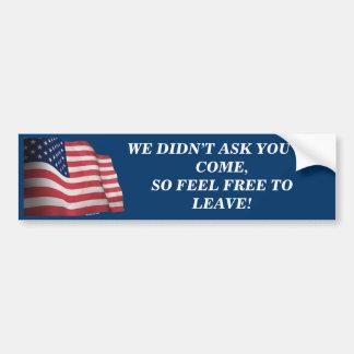 America, Love It or Leave It Car Bumper Sticker