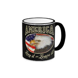 America Love It or Leave it (distressed) Ringer Mug