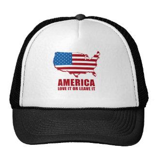 America. Love it or Leave it. Hat