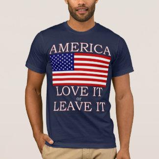 America Love it or Leave it  Mens Dark Tshirt