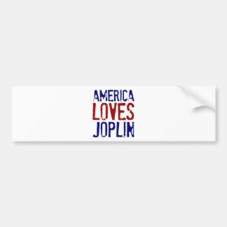 AMERICA LOVES JOPLIN BUMPER STICKER