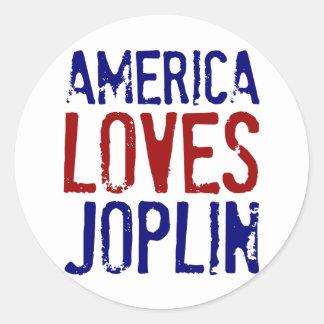 AMERICA LOVES JOPLIN CLASSIC ROUND STICKER