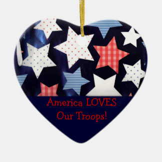 America Loves Our Troops Ornament