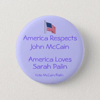 America Loves Sarah Palin Button