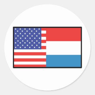 America Luxemborg Round Sticker